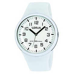 Lorus - Kids' white soft resin strap watch