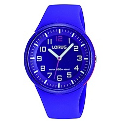 Lorus - Kids' purple soft resin strap watch