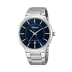 Lorus - Men's slimline blue dial dress watch rs935bx9