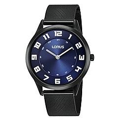 Lorus - Men's slimline blue dial dress watch