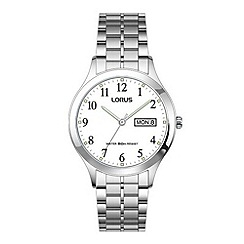 Lorus - Men's classic white dial bracelet watch