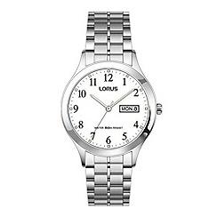 Lorus - Men's classic white dial bracelet watch