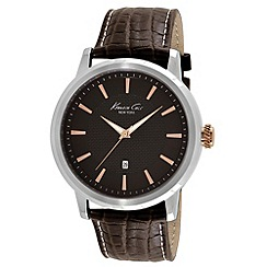 Kenneth Cole - Men's brown dial brown leather strap