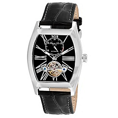 Kenneth Cole - Men's black dial black leather strap