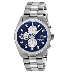Kenneth Cole - Men's blue dial silver stainless steel bracelet