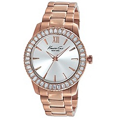 Kenneth Cole - Ladies silver dial rose gold bracelet