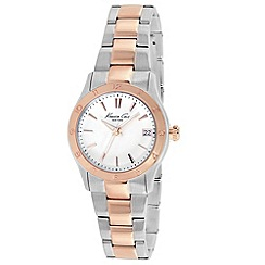Kenneth Cole - Ladies white dial two tone bracelet