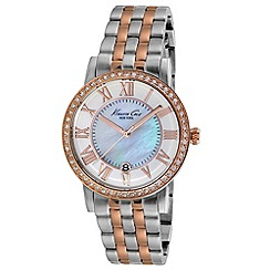 Kenneth Cole - Ladies mother of pearl dial two tone bracelet