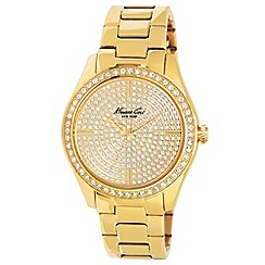 Kenneth Cole - Ladies gold set dial gold bracelet