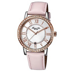 Kenneth Cole - Ladies pink dial pink leather strap
