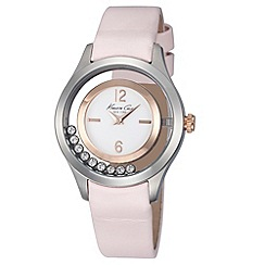 Kenneth Cole - Ladies white dial pink lether strap