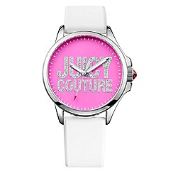 Juicy Couture - Ladies white silicone strap pave logo watch