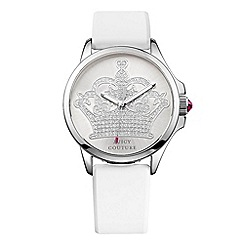Juicy Couture - Ladies white silicone strap crown dial watch