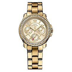 Juicy Couture - Ladies gold stainless steel chronograph bracelet watch