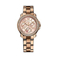 Juicy Couture - Ladies rose stainless steel chronograph bracelet watch 31901106