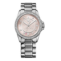 Juicy Couture - Ladies stainless steel crystal bezel bracelet watch