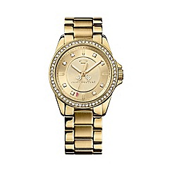 Juicy Couture - Ladies gold crystal bezel bracelet watch