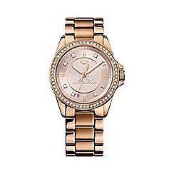 Juicy Couture - Ladies rose gold crystal bezel bracelet watch