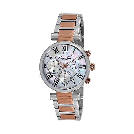 Kenneth Cole - Ladies silver dial two tone bracelet kc4970