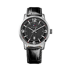 Tommy Hilfiger - Gent's brown leather strap watch