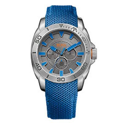 Boss Orange Gent´s blue strap watch - . -
