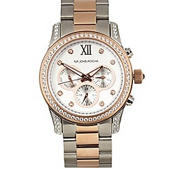 RJR.John Rocha - Ladies rose gold plated chronograph watch