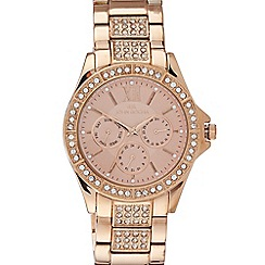 RJR.John Rocha - Designer ladies rose gold vermeil Swarovski bezel watch