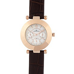 RJR.John Rocha - Designer ladies mock croc multi dial watch