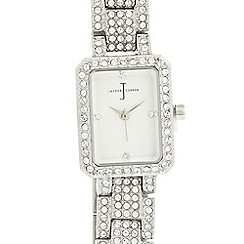 J by Jasper Conran - Designer ladies stainless steel crystal watch