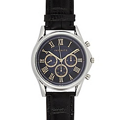 J by Jasper Conran - Men's designer black leather croc strap watch
