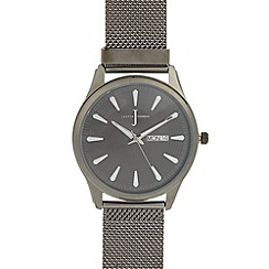 J by Jasper Conran - Designer men's gunmetal mesh watch