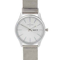 J by Jasper Conran - Men's designer silver mesh bracelet watch