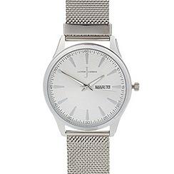 J by Jasper Conran - Men's designer silver mesh bracelet watch