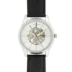 J by Jasper Conran - Designer men's silver automatic watch