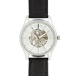 J by Jasper Conran - Designer men's silver automatic watch