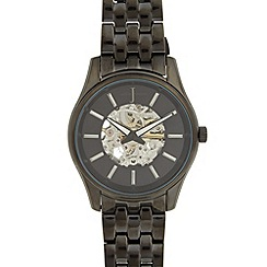 J by Jasper Conran - Designer men's black automatic watch