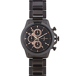 J by Jasper Conran - Men's designer black chronograph bracelet watch