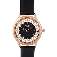 Van Peterson 925 - Ladies rose gold vermeil belt watch