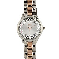 Van Peterson 925 - Designer ladies silver transparent watch