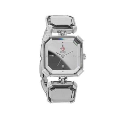 EB by Erickson Beamon Women's silver octagonal case mirror link bracelet watch