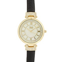 Van Peterson 925 - Ladies black mother of pearl watch