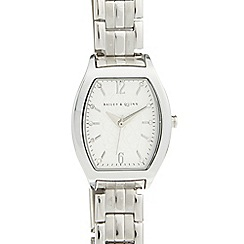 Bailey & Quinn - Ladies stainless steel tonneau bracelet watch