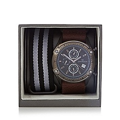 RJR.John Rocha - Designer mens dark grey chronograph watch