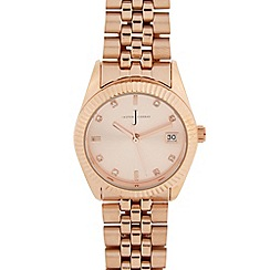 J by Jasper Conran - Ladies designer rose gold classic bracelet watch