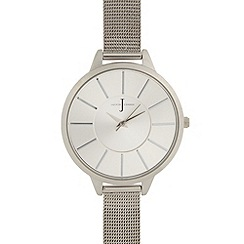 J by Jasper Conran - Ladies designer silver slim mesh strap watch