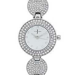 J by Jasper Conran - Ladies designer stainless steel pave disc bracelet watch