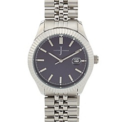 J by Jasper Conran - Men's designer fluted bezel bracelet watch
