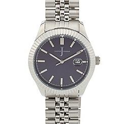 J by Jasper Conran - Men's designer fluted bezel bracelet watch