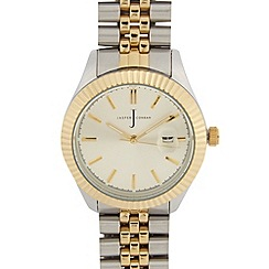 J by Jasper Conran - Men's designer gold two tone link bracelet watch