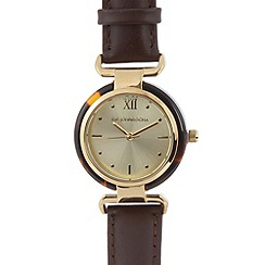 RJR.John Rocha - Designer ladies brown tortoiseshell watch
